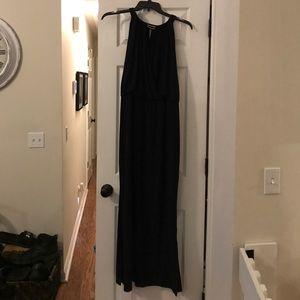 Chaps gorgeous long navy dress XL